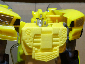 Gen. Binaltech Decepticharge Chestplate in Yellow Processed Versatile Plastic
