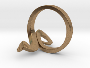 Kiekura, Size 6.5 (16.9 mm) in Natural Brass