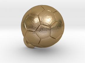 SOCCER BALL FOOTBALL (Pendant or Earring) in Polished Gold Steel