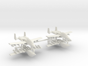 1/285 Two-Seater A-10 Thunderbolt II (Armed) (x2) in White Natural Versatile Plastic