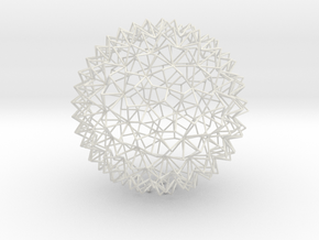 Amazing Mesh Sphere in White Natural Versatile Plastic