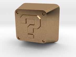 Question Block Cherry MX Keycap in Natural Brass