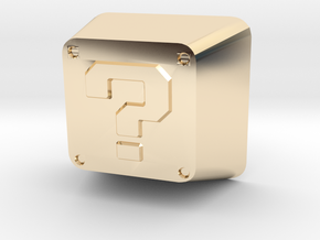 Question Block Cherry MX Keycap in 14K Yellow Gold