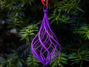 Christmas Tree Ornament (Bauble) - Duo in Purple Processed Versatile Plastic