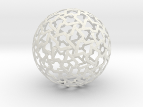 Ball Mesh in White Natural Versatile Plastic