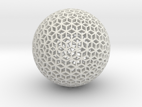 Diamond Sphere Mesh in White Strong & Flexible