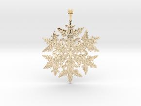 Wilson Bentley Snowflake Crystal Pendant in 14K Yellow Gold