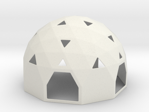 Arch Dome in White Natural Versatile Plastic