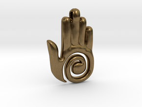 Healer's Hand Charm in Natural Bronze