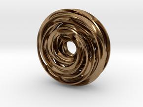 Cinquefoil Knot in Natural Brass