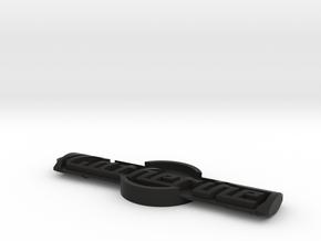 Cat 86 Keychain in Black Natural Versatile Plastic