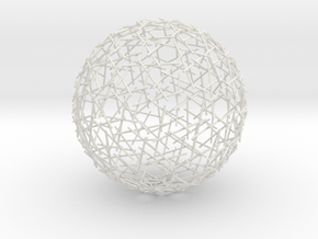 Spherical Mystery in White Natural Versatile Plastic