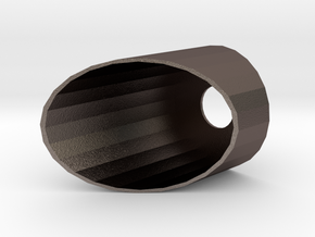 40mm Slanted CRD in Polished Bronzed Silver Steel