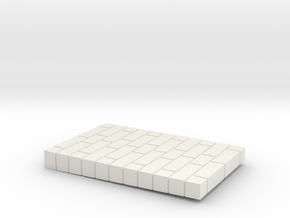 Brick Base in White Natural Versatile Plastic