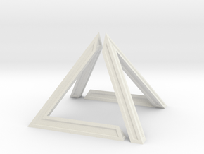 David Pyramid Thick V58.3 - 6cm in White Natural Versatile Plastic
