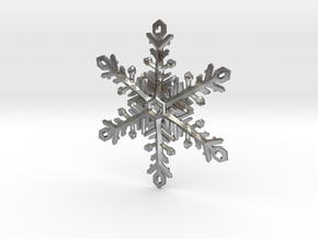Snowflake Ornament 2 in Natural Silver