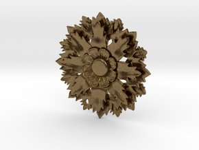 Flower Pendant With Hole in Natural Bronze