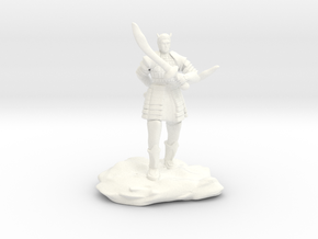 Tiefling in Splintmail With Dual Scimitars in White Processed Versatile Plastic