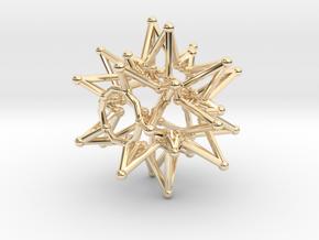 Tessa StarCore - Open Bottom - 2.5cm in 14K Yellow Gold