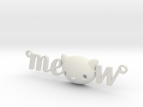 Meow Necklace by it's  a CYN!  in White Natural Versatile Plastic