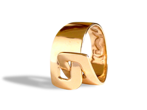 LOOP ring in Polished Bronze: 8 / 56.75