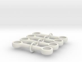 4m Pushrod Set in White Natural Versatile Plastic