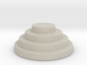 Devo Hat   15mm diameter miniature / NOT LIFE SIZE in Natural Sandstone