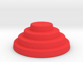 Devo Hat   15mm diameter miniature / NOT LIFE SIZE in Red Processed Versatile Plastic