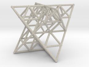 Rod Merkaba Lattice OpenBase - 6cm in Natural Sandstone