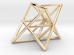Rod Merkaba Supports OpenBase 4cm in 14K Yellow Gold