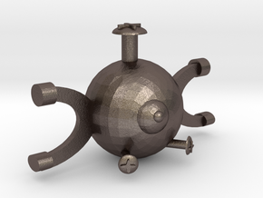 Magnemite in Polished Bronzed Silver Steel