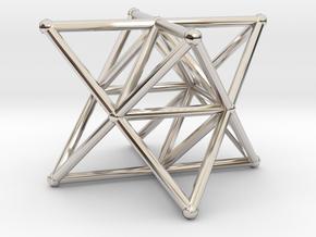 Rod Merkaba Supports 4cm in Platinum