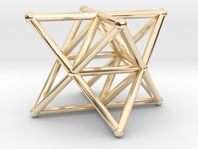 Rod Merkaba Supports 3cm in 14K Yellow Gold
