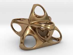 Merkaba Flatbase R1 5cm in Natural Brass