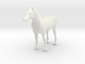 Horse Sym Sculp 2 Rotated in White Natural Versatile Plastic