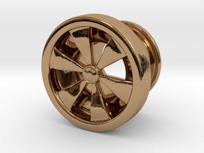 Flesh Tunnel Rim - 8mm in Polished Brass