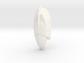 Cosmic Space Shuttle Craft in White Processed Versatile Plastic