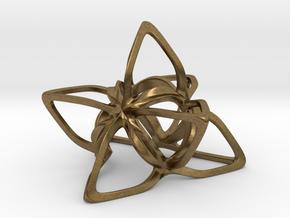 Merkaba Flatbase CurvaciousP - 5cm in Natural Bronze