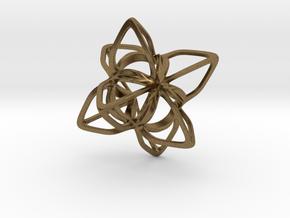 Merkaba Flatbase CurvaciousP - 4cm in Natural Bronze