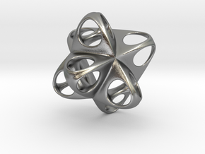 Merkaba Flatbase Round - 3.5cm in Natural Silver