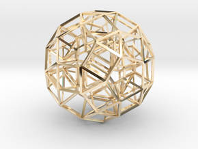 Dodecahedron .06 5cm in 14K Yellow Gold