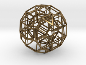 Dodecahedron .06 5cm in Natural Bronze