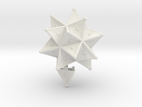 Stellated Icoso Case - 3.6cm in White Natural Versatile Plastic