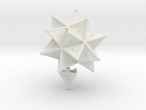 Stellated Icoso Case - 3.6cm in White Natural Versatile Plastic