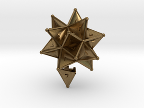 Stellated Icoso Case - 3.6cm in Natural Bronze