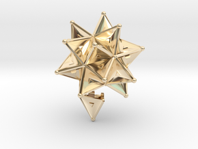 Stellated Icoso Case - 3.6cm in 14K Yellow Gold