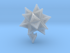 Stellated Icoso Case - 3.6cm in Smooth Fine Detail Plastic