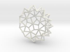 Tessa2 Half WireBalls 3cm in White Natural Versatile Plastic