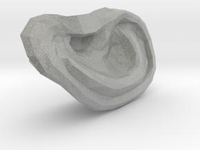 High Poly Human Ear in Metallic Plastic