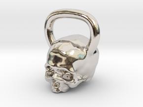 Kettlebell Skull Pendant .75 Scale in Platinum